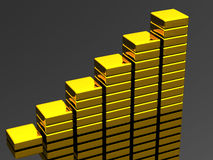 Gold graph Stock Photos