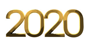 2020 gold. Graphic render illustration Royalty Free Stock Photos