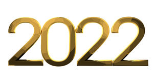 2022 gold. Graphic render illustration Royalty Free Stock Photos