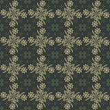 Gold and gray damask seamless floral pattern Royalty Free Stock Photos