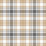 Gold gray white check fabric texture seamless pattern. Vector illustration Stock Photo
