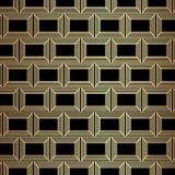 Gold Great Gatsby Art Deco Pattern Background Design. Vector royalty free illustration
