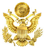 Gold Great Seal of the United States Stock Photography