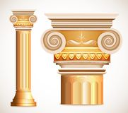 Gold greece column. Vector Stock Images