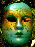 Gold,green and blue mask. Royalty Free Stock Photo