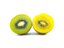 Gold and green kiwi fruit. On white background Stock Photography