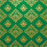 Gold green pattern vector Royalty Free Stock Photo