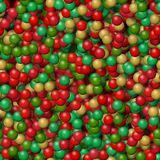 Gold green red small bubbles pattern. Gold green red small bubbles seamless pattern Royalty Free Stock Photography