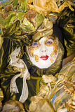 Gold and green Venetian costume Royalty Free Stock Image