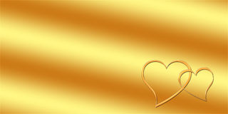 Gold greeting card. Pattern of a card to wedding / Valentine's day Stock Photos