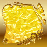 Gold greeting card Royalty Free Stock Image