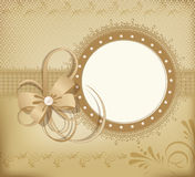 Gold  greeting wedding frame for photo Stock Image