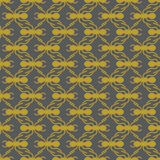 Gold on grey ant geometric pattern seamless repeat background. Two colour simple ant geometric pattern seamless repeat background. Could be used for background Stock Image