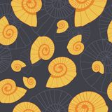 Gold and grey organic abstract seamless pattern stock illustration