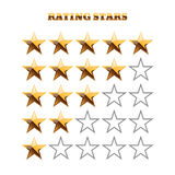Gold and grey rating stars on white illustration 10 vecto. Gold and grey rating stars on white illustration eps 10 stock illustration