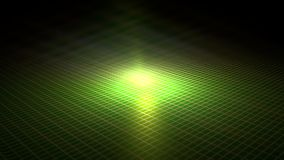 Gold grid on a green field. Stock Photo