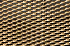 Gold Grille background Stock Photo