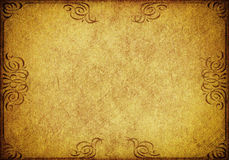 Gold grunge paper background Stock Images