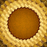 Gold grungy frame Royalty Free Stock Photography