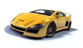 Gold gt car Royalty Free Stock Photos