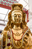 Gold Guanyin (Goddess of mercy) Royalty Free Stock Photography