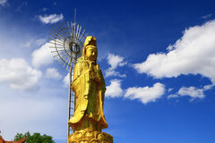 Gold Guanyin Statue  Stock Photography