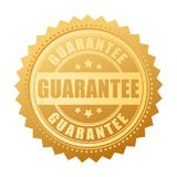 Gold guarantee vector seal. Icon Stock Illustration