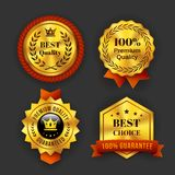 Gold Guaranteed Labels Royalty Free Stock Photography