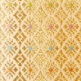 Gold guipure, embroidery on cloth texture Royalty Free Stock Photography