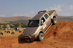 Gold GWM Steed on 4x4 Course Royalty Free Stock Image