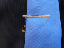 Gold hairpin for a tie Stock Images