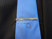 Gold hairpin for a tie Stock Image