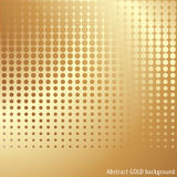 Gold halftone background Stock Photography