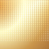Gold halftone background Royalty Free Stock Image