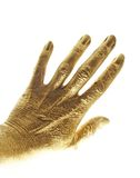 Gold hand Royalty Free Stock Photos