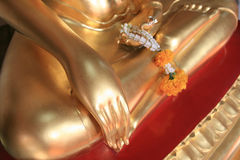 Gold hand of buddha Royalty Free Stock Photo