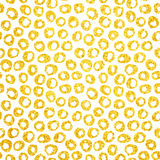 Gold Hand gezeichneter Dots Seamless Pattern Lizenzfreie Stockbilder