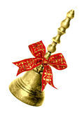 Gold Handbell. Handbell on a white background Stock Images