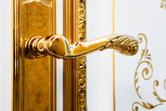 Gold Handle Royalty Free Stock Photography
