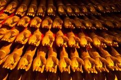 Gold hands of guan yin statue. Ten thousand golden hands of guan yin buddha statue ,Bangkok Thailand Royalty Free Stock Image