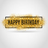 Gold Happy Birthday Royalty Free Stock Photography