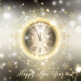 Gold Happy New Year background Stock Image