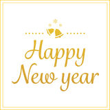Gold happy new year greetings card Stock Photography