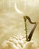 Gold harp Royalty Free Stock Photos