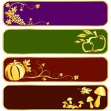 Gold harvest banners Stock Photos