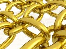 Gold hauberk Royalty Free Stock Photography