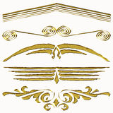 Gold header ornament Royalty Free Stock Photography