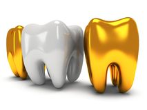 Gold and healthy teeth Stock Photo