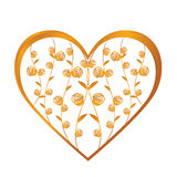 Gold heart Royalty Free Stock Photo
