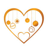 Gold heart Stock Photography